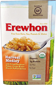 5 PACK of Erewhon Harvest Medley Cereal Gluten Free - 10 oz
