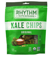 3 PACK of Rhythm Superfoods Organic Kale Chips Original -- 2 oz