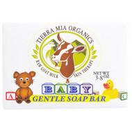 3 PACK of Tierra Mia Organics, Raw Goat Milk Skin Therapy, Baby, Gentle Soap Bar, 3.8 oz