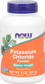 3 Pack of NOW Foods Potassium Chloride Powder - 8 oz