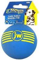 JW Pet, iSqueak Ball Rubber Dog Toy - Medium - 1 Toy
