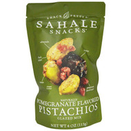 3 PACK of Sahale Snacks, Naturally Pomegranate Flavored Pistachios Glazed Mix, 4 oz (113 g)