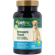 3 PACK OF petnc NATURAL CARE, Brewers Yeast, Liver Flavor, 250 Chewables