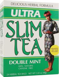 Hobe Labs, Ultra Slim Tea,  Double Mint - 24 Tea Bags (5 PACK)