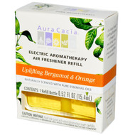 3 PACK of Aura Cacia, Electric Aromatherapy Air Freshener Refill, Uplifting Bergamot & Orange, 0.47 fl oz (14 ml)