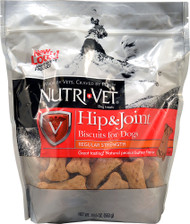 Nutri-Vet Hip and Joint Biscuits for Dogs Peanut Butter - 19.5 oz