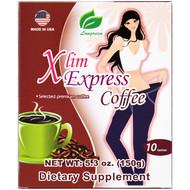 3 PACK OF Longreen Corporation, Xlim Express Coffee, 10 Sachets, 5.3 oz (150 g)