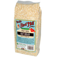 3 PACK of Bobs Red Mill, Organic, Oat Bran Hot Cereal, 18 oz (510 g)
