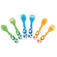 Cups, Dishes & Utensils Conscientious 4 Packs X Nuby Toddler Training Fun Feeding Spoons & Forks 12 Months