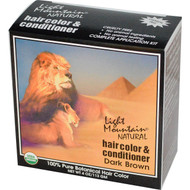 3 PACK of Light Mountain, Organic Hair Color & Conditioner, Dark Brown, 4 oz (113 g)