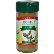 Frontier Natural Products, Organic Sage Leaf, Ground, 0.80 oz (22 g) (5 PACK)