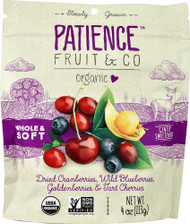 3 PACK of Patience Fruit & Co Organic Fruit Blend Whole Berry Blend -- 4 oz