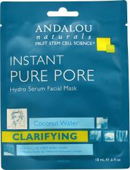 Andalou Naturals Instant Pure Pore Hydro Serum Facial Mask - 0.6 fl oz