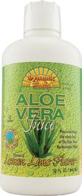 Dynamic Health, Organic Aloe Vera Juice,  Lemon Lime - 32 fl oz