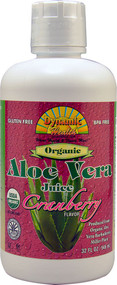 Dynamic Health, Organic Aloe Vera Juice,  Cranberry - 32 fl oz