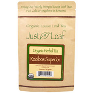 5 PACK of Just a Leaf Organic Tea, Rooibos Superior, Loose Leaf Tea, Smooth, Rounded Flavor, 100% Pure, No GMOs, 2 oz (56 g)