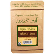 5 PACK of Just a Leaf Organic Tea, Hibiscus Ginger, Loose Leaf Tea, Tart and Spicy Flavor, 100% Pure, No GMOs, 2 oz (56 g)