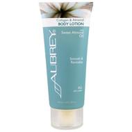 Aubrey Organics, Body Lotion, All Skin Types, Collagen & Almond, 3 fl oz (89 ml)