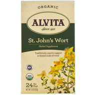 Alvita Teas, Organic, St. Johns Wort Tea, Caffeine Free, 24 Tea Bags, 1.13 oz (32 g)