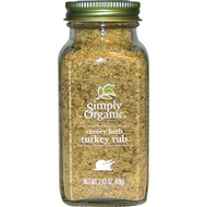 3 PACK of Simply Organic, Organic Savory Herb, Turkey Rub, 2.43 oz (69 g)