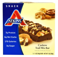 Atkins, Snack Bar,  Cashew Trail Mix - 5 Bars (5 PACK)