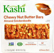 5 PACK of Kashi Chewy Nut Butter Bars Gluten Free Almond Snickerdoodle - 5 Bars