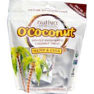 3 PACK of Nutiva, OCocunut, Hemp & Chia, 8 Individually Wrapped Pieces, 0.5 oz (14 g) Each