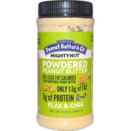 3 PACK of Peanut Butter & Co., Mighty Nut, Powdered Peanut Butter, Flax & Chia, 6.5 oz. (184 g)