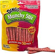 3 Pack of Dingo Munchy Stix Dog Treats Chicken - 50 Pieces