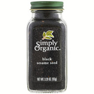3 PACK OF Simply Organic, Organic, Black Sesame Seed, 3.28 oz (93 g)