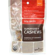 3 PACK of Navitas Organics, Organic Cashews, Goji Basil, 4 oz (113 g)