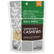 3 PACK of Navitas Organics, Organic Cashews, Maca Maple, 4 oz (113 g)