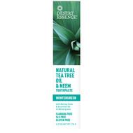 3 PACK of Desert Essence, Natural Tea Tree Oil & Neem Toothpaste, Wintergreen, 6.25 oz (176 g)