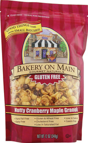 Bakery On Main, Gluten Free Granola,  Nutty Cranberry Maple - 12 oz