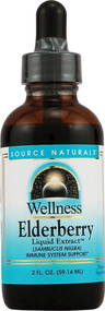 3 PACK of Source Naturals Wellness Elderberry Liquid Extract -- 2 fl oz