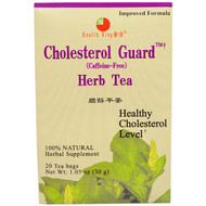 3 PACK of Health King, Cholesterol Guard Herb Tea, Caffeine Free, 20 Tea Bags, 1.05 oz (30 g)