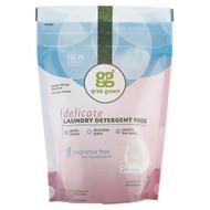 3 PACK of GrabGreen, Delicate Laundry Detergent Pods, Fragrance Free, 24 Loads, 8.4 oz (240 g)