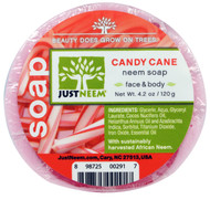 Just Neem, Neem Soap, Candy Cane, 4.2 oz (120 g)