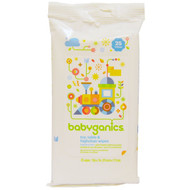 3 PACK OF BabyGanics, Toy, Table & Highchair Wipes, Fragrance Free, 25 Wipes