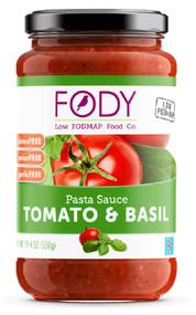 Low FODMAP Food Co Pasta Sauce Gluten Free Tomato & Basil - 19.4 oz