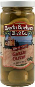 Santa Barbara Olive Co., Stuffed Olives,  Garlic - 5 oz