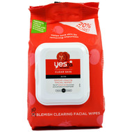 Yes to, Clear Skin, Acne, Blemish Clearing Facial Wipes, Tomatoes, 30 Wipes