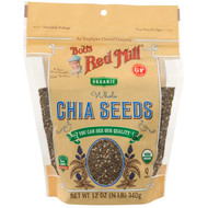 3 PACK OF Bobs Red Mill, Organic Whole Chia Seeds, 12 oz (340 g)