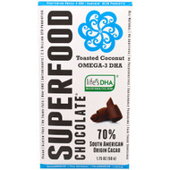 Good Superfoods, Superfood Chocolate, Toasted Coconut Omega-3 DHA, 1.75 oz (50 g)