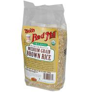 Bobs Red Mill, Organic, Medium Grain Brown Rice, 27 oz (765 g)