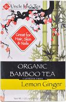 Uncle Lees Organic Bamboo Tea Lemon Ginger - 18 Tea Bags (5 PACK)