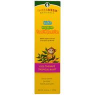 3 PACK OF Organix South, TheraNeem Naturals, Kids Therape, Kids Neem Toothpaste, Tropical Blast, 4.23 oz (120 g)