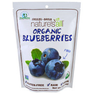 3 PACK of Natierra Natures All , Organic Freeze-Dried, Blueberries, 1.2 oz (34 g)