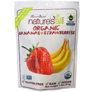 3 PACK of Natierra Natures All , Organic Freeze-Dried, Bananas + Strawberries, 1.8 oz (51 g)