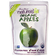 3 PACK of Natierra Natures All , Organic Freeze-Dried, Apples, 1.5 oz (42.5 g)